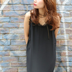 大人かわいい ストリート ゆるふわ ロング ヘアスタイルや髪型の写真・画像
