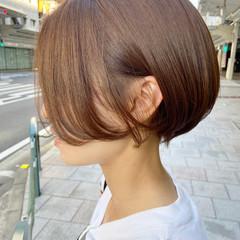 ショートボブ ナチュラル ミニボブ ショートヘア ヘアスタイルや髪型の写真・画像