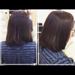 社会人の味方 艶髪 髪質改善トリートメント ボブ ヘアスタイルや髪型の写真・画像