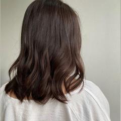 大人かわいい 鎖骨ミディアム ミディアム フェミニン ヘアスタイルや髪型の写真・画像