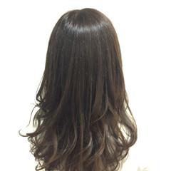 ニュアンス アッシュ ロング 黒髪 ヘアスタイルや髪型の写真・画像