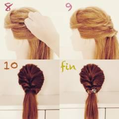 くるりんぱ ヘアアレンジ 前髪あり ショート ヘアスタイルや髪型の写真・画像