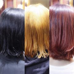 ピンクベージュ ベリーピンク ダブルカラー ピンク ヘアスタイルや髪型の写真・画像