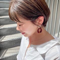 ショートヘア ショートボブ デート ナチュラル ヘアスタイルや髪型の写真・画像