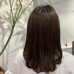 デジタルパーマ ナチュラル ワンカールパーマ ロング ヘアスタイルや髪型の写真・画像
