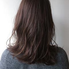 ナチュラル セミロング 大人かわいい 透明感 ヘアスタイルや髪型の写真・画像