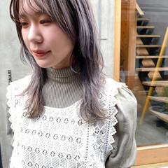 透明感 透明感カラー ウルフカット ナチュラル ヘアスタイルや髪型の写真・画像