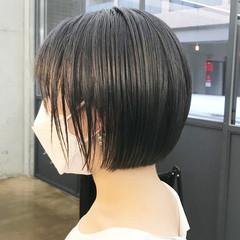 ボブ ナチュラル グレージュ 透明感カラー ヘアスタイルや髪型の写真・画像