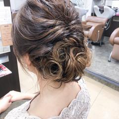 ヘアアレンジ 編み込み エレガント 上品 ヘアスタイルや髪型の写真・画像