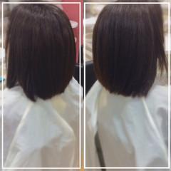 ミディアム 髪質改善カラー 艶髪 まとまるボブ ヘアスタイルや髪型の写真・画像