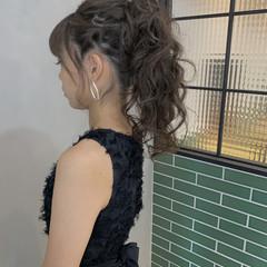 ポニーテールアレンジ 謝恩会 ロング ポニーテール ヘアスタイルや髪型の写真・画像