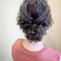 お呼ばれ ロング ヘアアレンジ 結婚式 ヘアスタイルや髪型の写真・画像