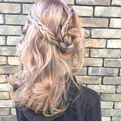 外国人風 ショート ミディアム 簡単ヘアアレンジ ヘアスタイルや髪型の写真・画像