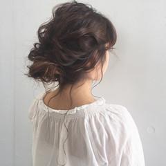 ヘアアレンジ くせ毛風 セミロング 大人かわいい ヘアスタイルや髪型の写真・画像