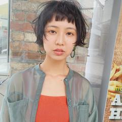 ストリート ショートボブ ショートヘア ミニボブ ヘアスタイルや髪型の写真・画像
