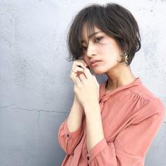 ヘアアレンジ ショート アウトドア ガーリー ヘアスタイルや髪型の写真・画像