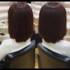 ミニボブ 大人ミディアム 髪質改善 ミディアム ヘアスタイルや髪型の写真・画像