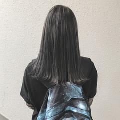 ハイライト ストリート ハイトーン セミロング ヘアスタイルや髪型の写真・画像
