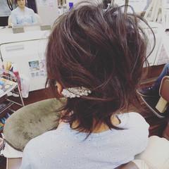 ゆるふわ ヘアアレンジ 編み込み 簡単ヘアアレンジ ヘアスタイルや髪型の写真・画像