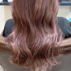 ピンク デザインカラー ラベンダーピンク ガーリー ヘアスタイルや髪型の写真・画像
