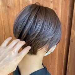 ショートヘア ミニボブ 30代 ナチュラル ヘアスタイルや髪型の写真・画像
