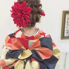 フェミニン 愛され 成人式 ヘアアレンジ ヘアスタイルや髪型の写真・画像