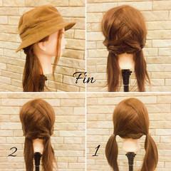 ストリート ミディアム ヘアアレンジ くるりんぱ ヘアスタイルや髪型の写真・画像