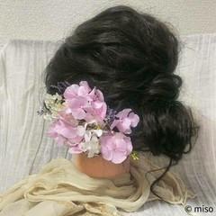 ロング ブライダル フェミニン 和装 ヘアスタイルや髪型の写真・画像