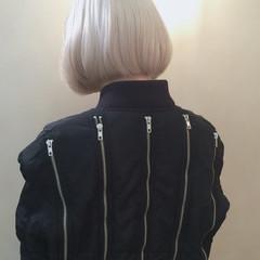 ボブ ストリート 外国人風 ホワイト ヘアスタイルや髪型の写真・画像