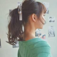 アップスタイル ナチュラル ゆるふわ モテ髪 ヘアスタイルや髪型の写真・画像