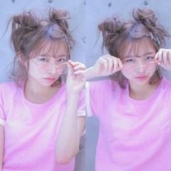 メッシーバン ショート 大人かわいい 簡単ヘアアレンジ ヘアスタイルや髪型の写真・画像