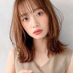 ひし形シルエット おフェロ モテ髪 セミロング ヘアスタイルや髪型の写真・画像