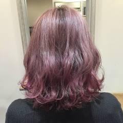 シースルーバング ボブ 外国人風カラー ダブルカラー ヘアスタイルや髪型の写真・画像