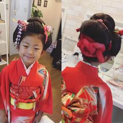 着物 ママ 和服 和装 ヘアスタイルや髪型の写真・画像