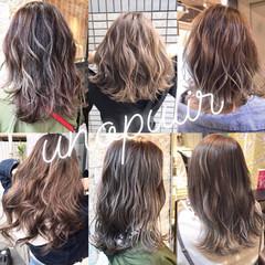 アッシュグレージュ アッシュベージュ グラデーションカラー 外国人風 ヘアスタイルや髪型の写真・画像
