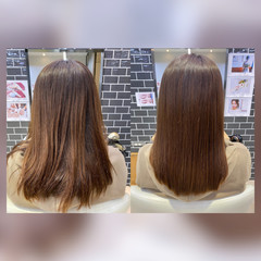 ストレート フェミニン 髪質改善トリートメント トリートメント ヘアスタイルや髪型の写真・画像
