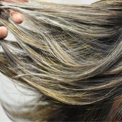 秋 グレージュ ハイライト ボブ ヘアスタイルや髪型の写真・画像