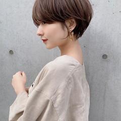 ナチュラル ショートヘア マッシュショート ひし形シルエット ヘアスタイルや髪型の写真・画像