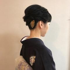 夜会巻 ミディアム 上品 ヘアアレンジ ヘアスタイルや髪型の写真・画像