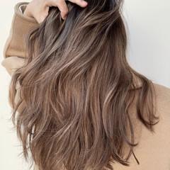 外国人風 デート 外国人風カラー バレイヤージュ ヘアスタイルや髪型の写真・画像