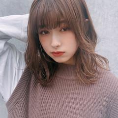 ミディアム ナチュラル デート モテ髪 ヘアスタイルや髪型の写真・画像