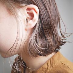 切りっぱなしボブ ミニボブ ボブ イヤリングカラー ヘアスタイルや髪型の写真・画像