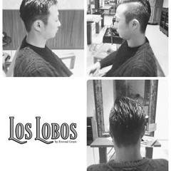 黒髪 モード 刈り上げ メンズ ヘアスタイルや髪型の写真・画像
