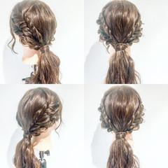 デート フェミニン ルーズ ヘアアレンジ ヘアスタイルや髪型の写真・画像