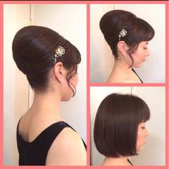 アップスタイル 和装 パーティ 結婚式 ヘアスタイルや髪型の写真・画像