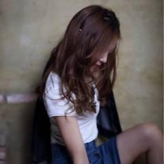 セミロング パンク 暗髪 ストリート ヘアスタイルや髪型の写真・画像