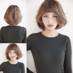 外国人風 前髪あり ショートボブ ハイライト ヘアスタイルや髪型の写真・画像