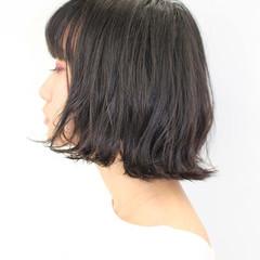 ゆるふわ 小顔ヘア ボブ 透明感 ヘアスタイルや髪型の写真・画像