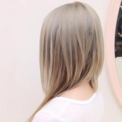 モード ロング グラデーションカラー 外国人風 ヘアスタイルや髪型の写真・画像