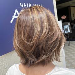 エレガント ダブルカラー 大人ハイライト ハイライト ヘアスタイルや髪型の写真・画像